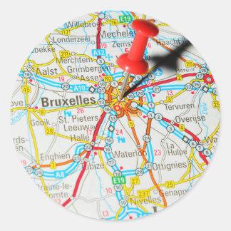 Bruxelles, Brussel, Brussels  in Belgium Classic Round Sticker