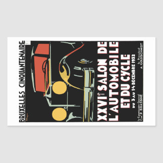 Bruxelles Cinquantenaire Rectangular Sticker