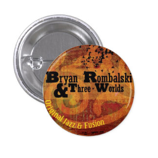 Bryan Rombalski and Three Worlds Mini Button