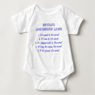 Bryan's Ownership Laws Baby Bodysuit