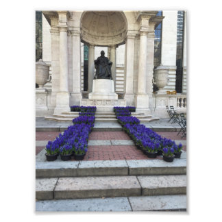 Bryant Park Statue Spring Flowers New York City NY Photo Print