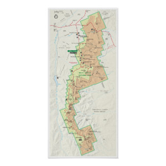 Bryce Canyon map poster