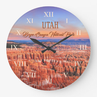 Bryce Canyon National Park Sunset Photo Large Clock