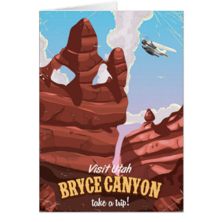 Bryce Canyon vintage travel poster Card