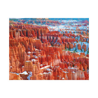 Bryce in Winter Canvas Print