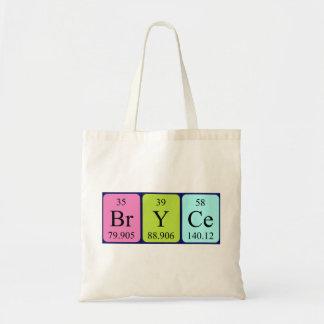 Bryce periodic table name tote bag