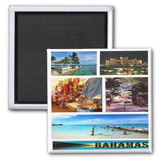 BS - Bahamas - Mosaic Collage Magnet
