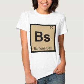 Bs - Baritone Sax Music Chemistry Periodic Table T Shirt