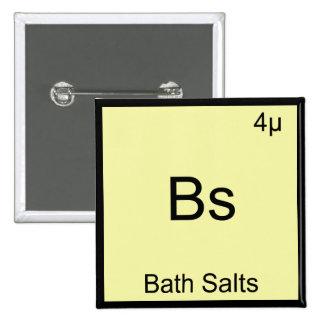 Bs - Bath Salts Funny Element Meme Chemistry Tee 15 Cm Square Badge