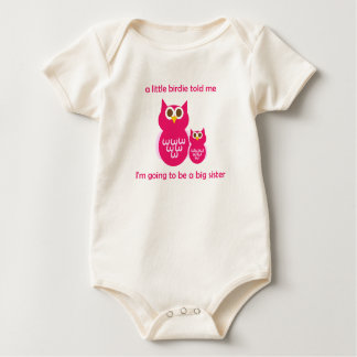 BS Cute Owl-I'm going to be a big sister Baby Bodysuit