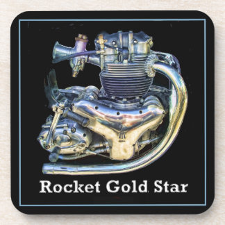BSA Rocket Gold Star Motorcycle Engine Coaster