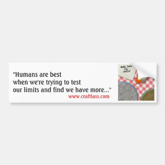 "BSfN ""Humans"" Bumper Sticker"