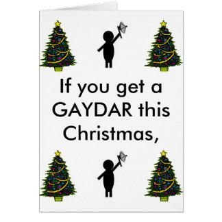 bsg gaydar, christmas tree, christmas tree, chr... card