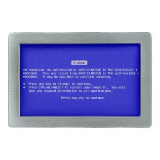 BSOD Belt Buckle - Blue Screen of Death Windows