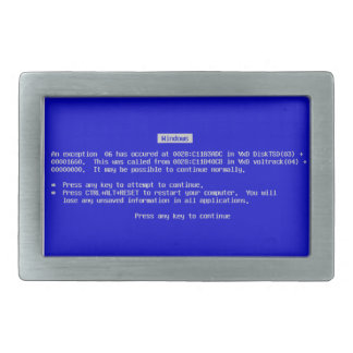 BSOD Belt Buckle - Blue Screen of Death Windows