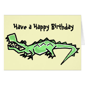 BT- Gator Birthday Card