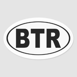BTR Baton Rouge Louisiana Oval Sticker