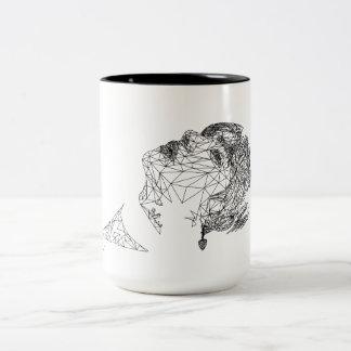 BTS V Polygon Art Mug by Genine Labis