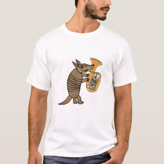 BU- Armadillo Playing the Tuba T-shirt
