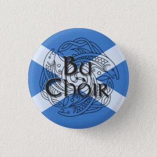 Bu Choir Saltire 3 Cm Round Badge