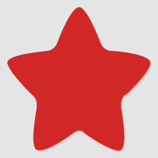 BU Red Star Sticker