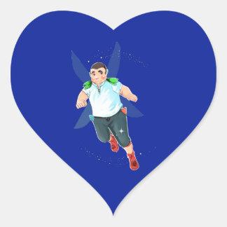 Bubba Heart Stickers, Glossy, Small Heart Sticker