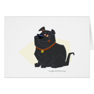 Bubba the Fat Lab Thank You Card