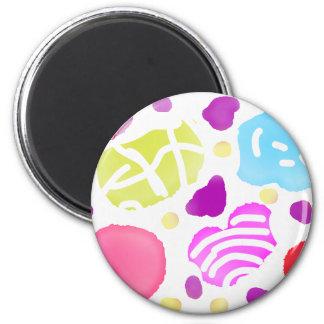 Bubble 6 Cm Round Magnet
