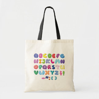 Bubble Alphabet Set Tote Bag