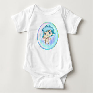 Bubble Angel Blue Number 1 Baby Bodysuit