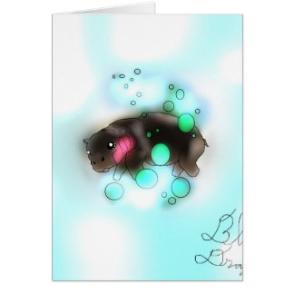 Bubble baby Hippo Greetings Card