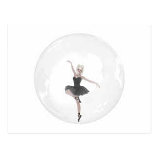 Bubble Ballerina 1 Postcard