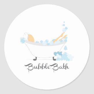 Bubble Bath Classic Round Sticker