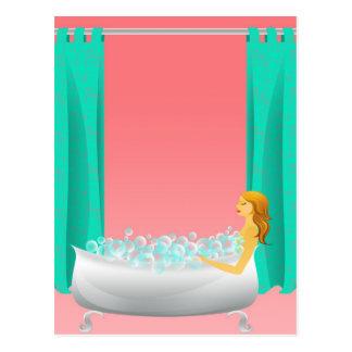 Bubble Bath Postcard