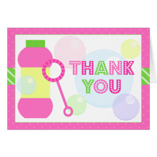 Bubble Birthday Party Thank You Card