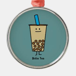 Bubble Boba Pearl Milk Tea Tapioca balls Metal Ornament