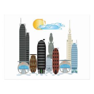 Bubble City Cartoon Theme Postcard