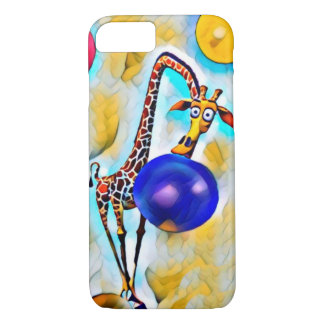 Bubble colorful nerdy giraffe Apple iPhone 7 case