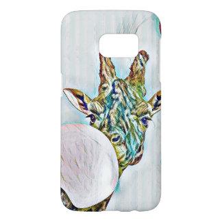 Bubble colorful nerdy giraffe Samsung Galaxy S7