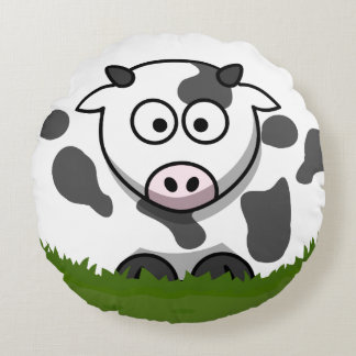 Bubble Cow Round Cushion