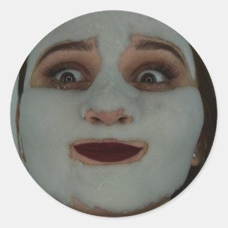Bubble Face Classic Round Sticker