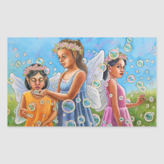 Bubble Fairies Rectangular Sticker
