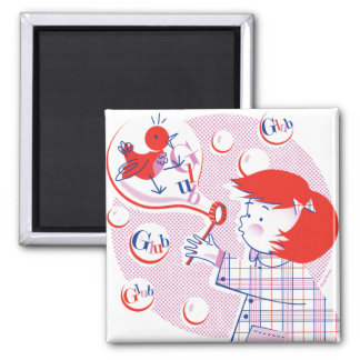 Bubble Girl Magnet