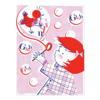 Bubble, Girl! Postcard