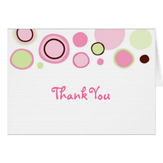 Bubble Gum Circles Thank You Note Cards