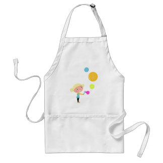 BUBBLE GUM KID. KID WITH BUBBLES STANDARD APRON