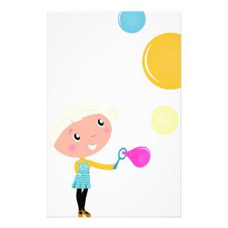 BUBBLE GUM KID. KID WITH BUBBLES STATIONERY