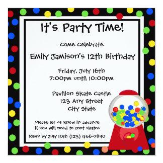 Bubble Gum Party Card