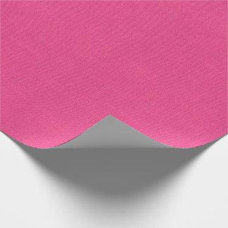Bubble Gum Pink Burlap Texture Wrapping Paper