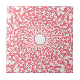 Bubble Gum Pink Crocheted Lace Tile